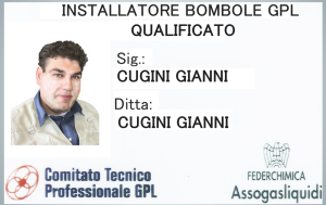 Certificazione installazione bombole gpl